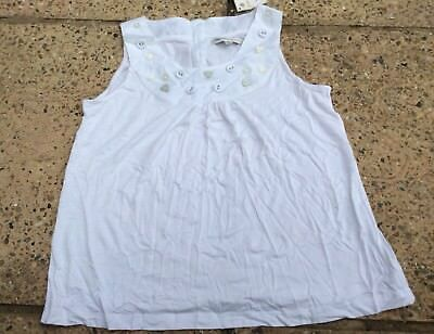 BNWT Girls white beaded and buttoned top by Marks and Spencer Autograph12 years