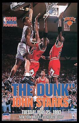 Vintage Starline- The Dunk: John Starks Dunks on Michael Jordan 16x20 Poster