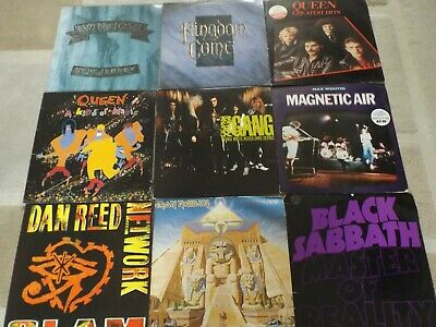 A JOB LOT / COLLECTION OF ROCK / HEAVY METAL VINYL ALBUMS LPs: SOME RARE: VG+ EX