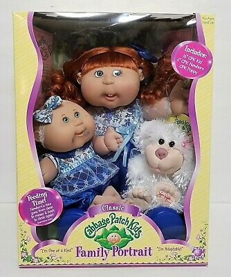 Cabbage Patch Kids Family Portraits collectible dolls and puppy plush NIB