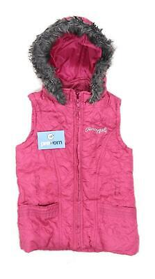 Pineapple Girls Love Heart Pink Gilet Age 11