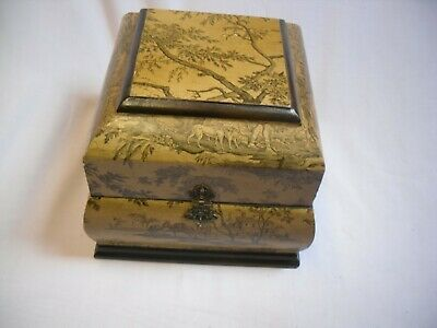 Chinese style influenced wooden box