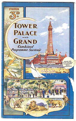 1930 illustrated Blackpool Tower theatre programme Peter Pan variety music hall