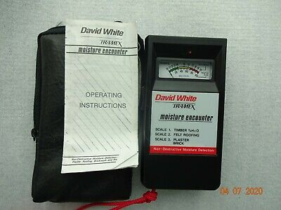 Tramex Professional Equipment Moisture Encounter Wood Drywall Roofing David Whit