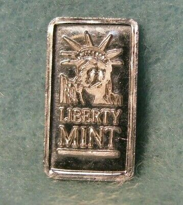 1 Gram Liberty Mint 999 Pure Platinum Bullion Bar