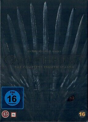 Game of Thrones Staffel 8 Neu und Originalverpackt 4 DVDs Die finale Staffel