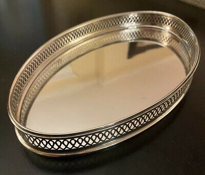 Vintage TIFFANY & CO .925 Sterling Magnificent Estate Oval Gallery Tray Platter