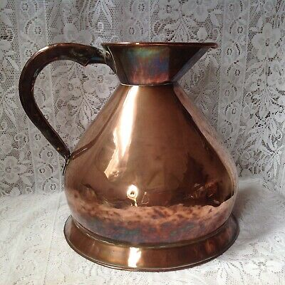 Antique 2 Gallon Copper Harvest Measure Early 19th Cent. By Joseph Webb Ancoats