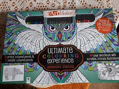 Art Maker Ultimate Colouring Experience Magnificent Creatures Set NEW & Sealed