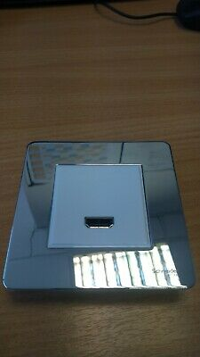Schneider HDMI outlet screw less chrome