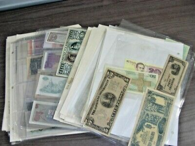 WW, Excellent assortment of Banknotes in pages