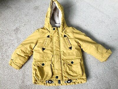 Marks And Spencer Warm Winter Coat Yellow Age 2-3 Years Unisex Boys Girls