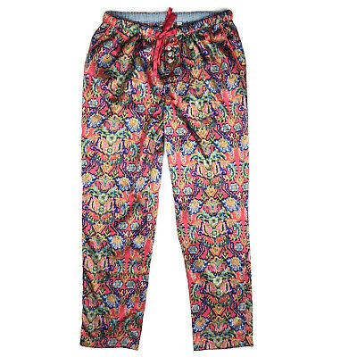 Anthropologie Eloise Satin Pajama Pants womens XS Petite Floral Sweetest Dreams