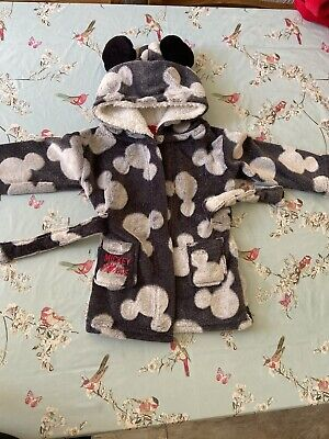 9-12 Months Disney Baby Dressing Gown Mickey Mouse