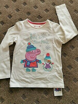 BNWT M&S Girls Peppa Pig Embroided Top 6-7 Years