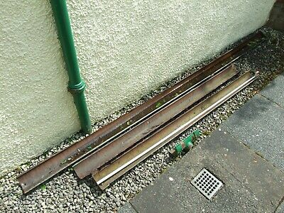 Old Cast Iron Guttering (6.6M) + Run Outlet; Sorry-4 Lengths, Slight Damage