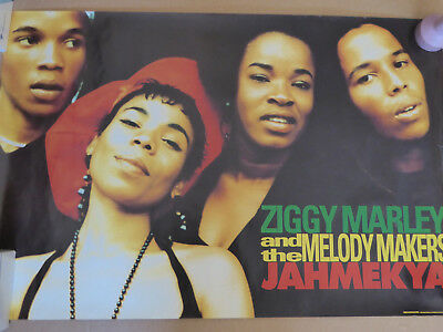 Ziggy Marley And The Melody Makers - 1991 Promo Poster - Jahmekya - 20 X 30