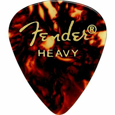 Fender 351 Shape Classic Celluloid Guitar Picks, Tortoise Shell, Heavy (3-Pack)