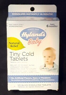 125 Ct Bottle Of Hyland's Baby Tiny Cold Tablets