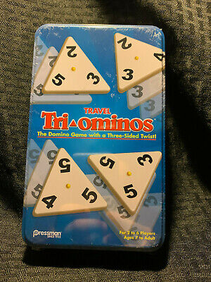 Tri-Ominos Game Travel Size in Metal Tin - NEW SEALED