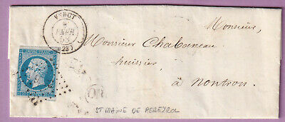 N°14 Pc 3526 Vergt Dordogne Or St Maine De Pereyrol Montron Lettre Cover