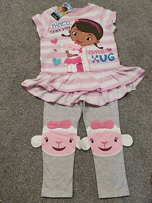 Girls Disney Doc Mcstuffins Top & Leggings Outfit Age 2-3 Yrs Bnwt