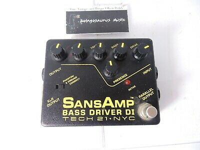 Tech 21 Sansamp Bass Driver DI Preamp EQ Effects Pedal Free US Shipping