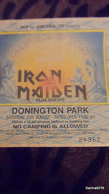 GENUINE Not repro iron maiden 1988 donington monsters of rock ticket