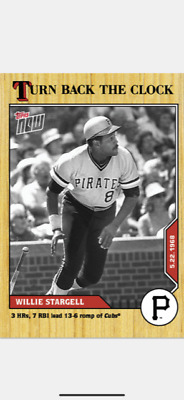 2020 Topps Now Turn Back The Clock Card Pittsburgh Pirates Willie Stargell #53