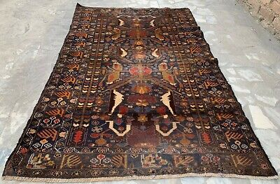 Authentic Hand Knotted Afghan Balouch Wool Area Rug 7 x 4 Ft (1595 HM)