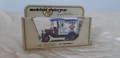 Matchbox Models Of Yesteryear Y12 1912 Ford T WORLD CUP 82 ESPANA Van