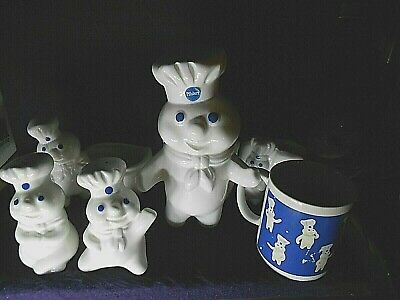 PILLSBURY DOUGHBOY Lot of 6 Assorted Kitchen Collectibles
