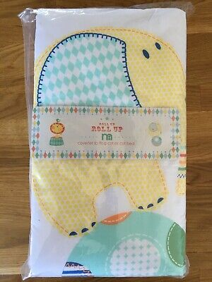 Mothercare Roll Up Elephant Circus Coverlet Cot Bed Cover New RRP £25