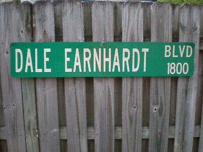 "DALE EARNHARDT STREET SIGN 9""X48 AlUMINUM/METAL THIS IS THE REAL DEAL"