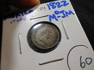 K84 Mexico Empire of Iturbide 1822-Mo 1/2 Real