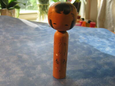 """JAPANESE WOODEN TRADITIONAL KOKESHI DOLL  6"""" Tall SIGNED"""