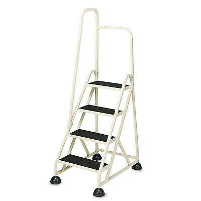 "Cramer Four-Step Stop-Step Folding Aluminum Ladder w/Left Handrail 66 1/4"" High"