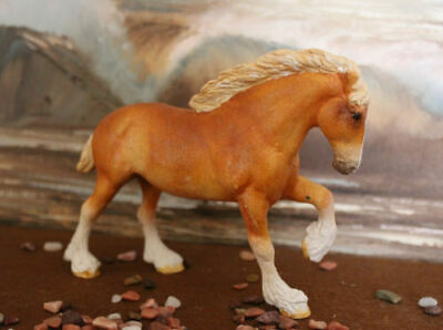 Vintage Breyer Custom Little Bit  Horse Chestnut Draft Horse by Jan Stevens 1992