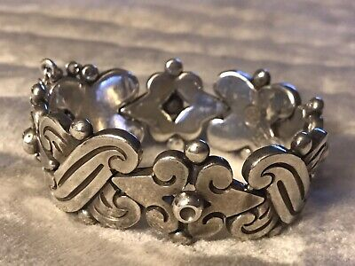 Hector Aguilar fertility Bracelet, 103 Grams Sterling silver, used condition.