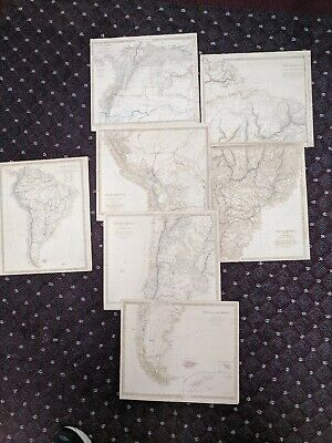 1836-42 SDUK: South America Maps - 6 Regional and 1 General Map