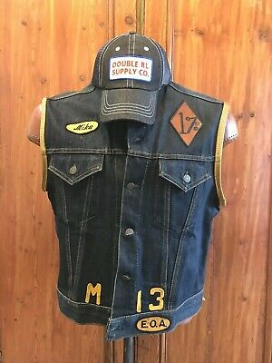 Highway 21 Unisex-Adult Iron Sights Denim Vest with Traditional Collar Blue Small
