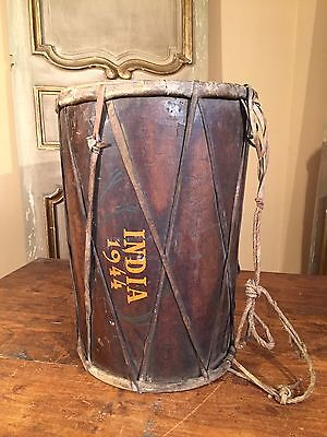 Antique WWII Drum INDIA WARS Army Soldier Battle Drum 1944 Museum Piece! RARE!