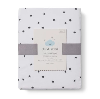Baby Fitted Sheet - Cloud Island™ White Grey