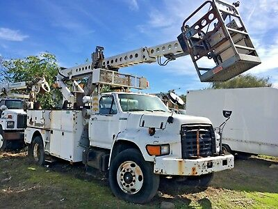 1996 Ford F800 Telsta Cable Placing Bucket Boom Truck