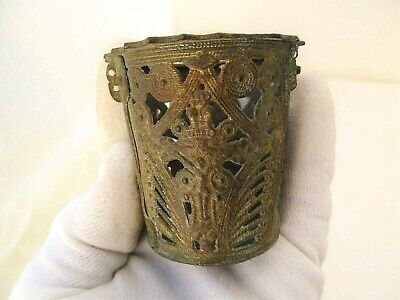 Authentic Orthodox Hanging bronze/brass Oil Candle holder Lamp Byzantine CAN1
