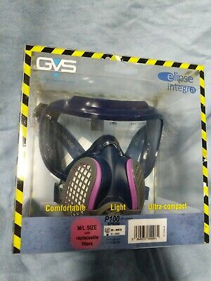 gvs elipse integra spr550  with integrated goggles M/L PPE mask