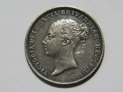 Great Britain 1839 6 Pence Queen Victoria Toned Low Grade Silver World Coin🌈⭐🌈
