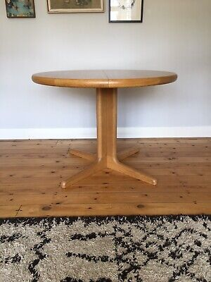 Vintage Danish Oak Extending Dining Table Midcentury *Delivery Available.*