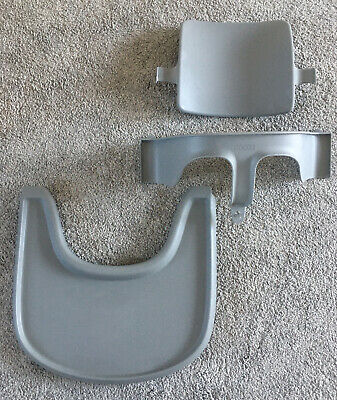 Stokke Tripp Trapp Baby Set and Tray in Storm Grey V3