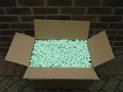 Large Box Of Green Polystyrene Packing Peanuts